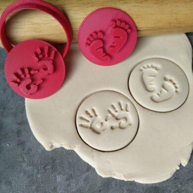 Baby Feet & Hands Cookie Embosser Stamps & Cookie Cutter
