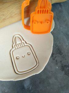 Glue Pot / Glue Stick Cookie Cutter and Fondant Stamp Embosser Teachers Gift