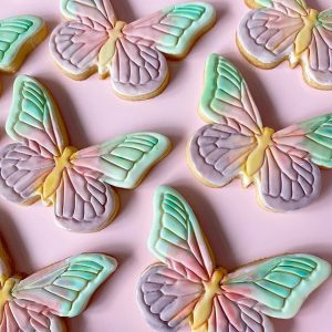 butterfly animal insect nature flower cookie biscuit