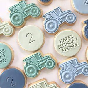 Tractor truck digger cookie biscuit