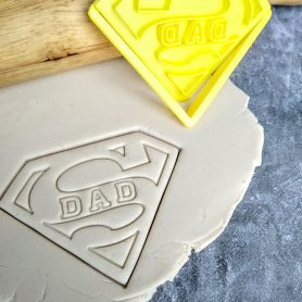 Super Dad Cookie Cutter and Fondant Stamp Embosser Super Man Shape Fathers Day