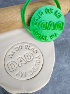 I'm so glad your my Dad Cookie Cutter and Fondant Stamp Embosser Fathers Day