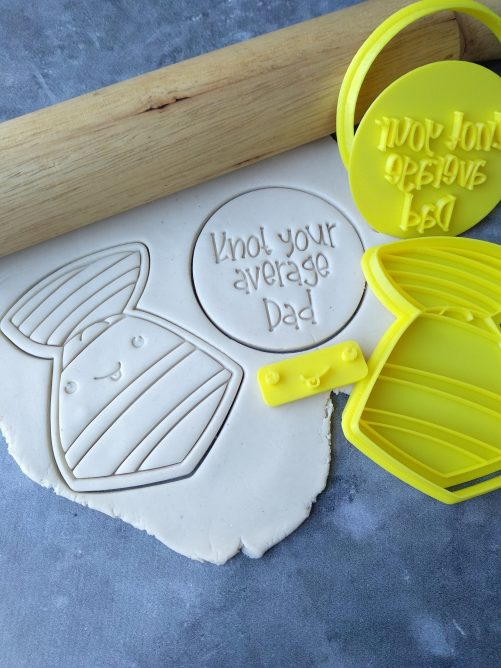 Knot your average Dad and Tie Cookie Cutter and Embosser Set - Fathers Day