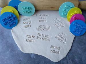 Classic Dad Sayings Cookie text Embosser Stamps Set - Fathers Day