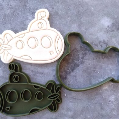 Submarine Cookie Cutter and Fondant Stamp Embosser