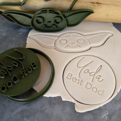 Yoda Best Dad Cookie Fondant Stamp Embosser and Cutter – Fathers Day