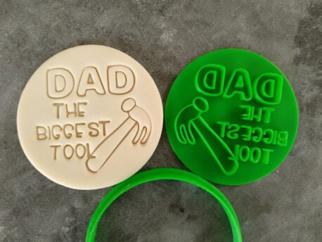 DAD The Biggest Tool Cookie Fondant Embosser Imprint Stamp and Cutter