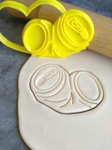 Crushed Beer Can Cookie Cutter and Fondant Embosser Stamp