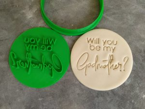 Will you be my Godmother? Cookie Fondant Stamp Embosser and Cutter