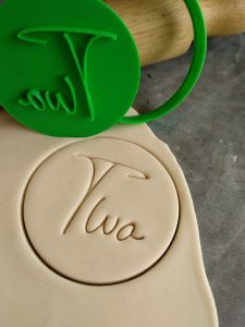 Two 2nd Birthday Cookie Fondant Stamp & Cutter