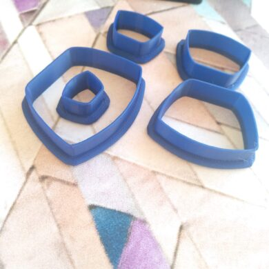 Rounded Trapezoid Polymer Clay Cutters