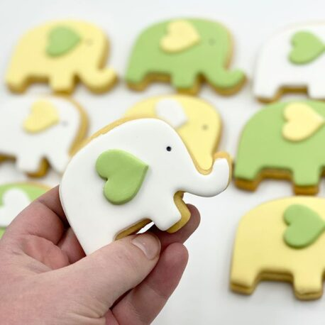 Elephant with Heart Cookie Cutter Baby Shower Elephant Cookies
