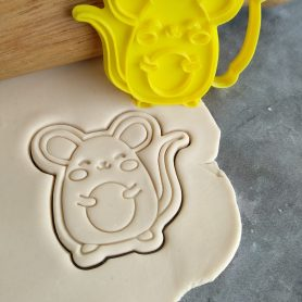 Mouse Cookie Cutter and Fondant Embosser Impress Stamp