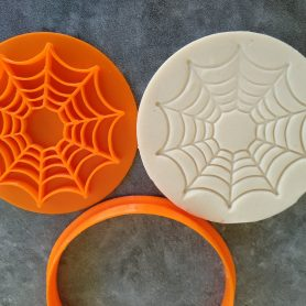 Spider Web Cookie Fondant Embosser Imprint Stamp and Cutter Halloween Spiderman