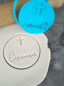 DIY Communion with Cross Cookie Fondant Embosser Stamp and Cutter