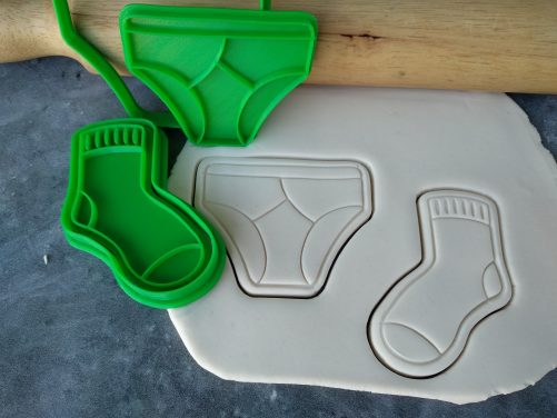 Socks and Jocks Cookie Fondant Embosser Imprint Stamp and Cutter Fathers Day