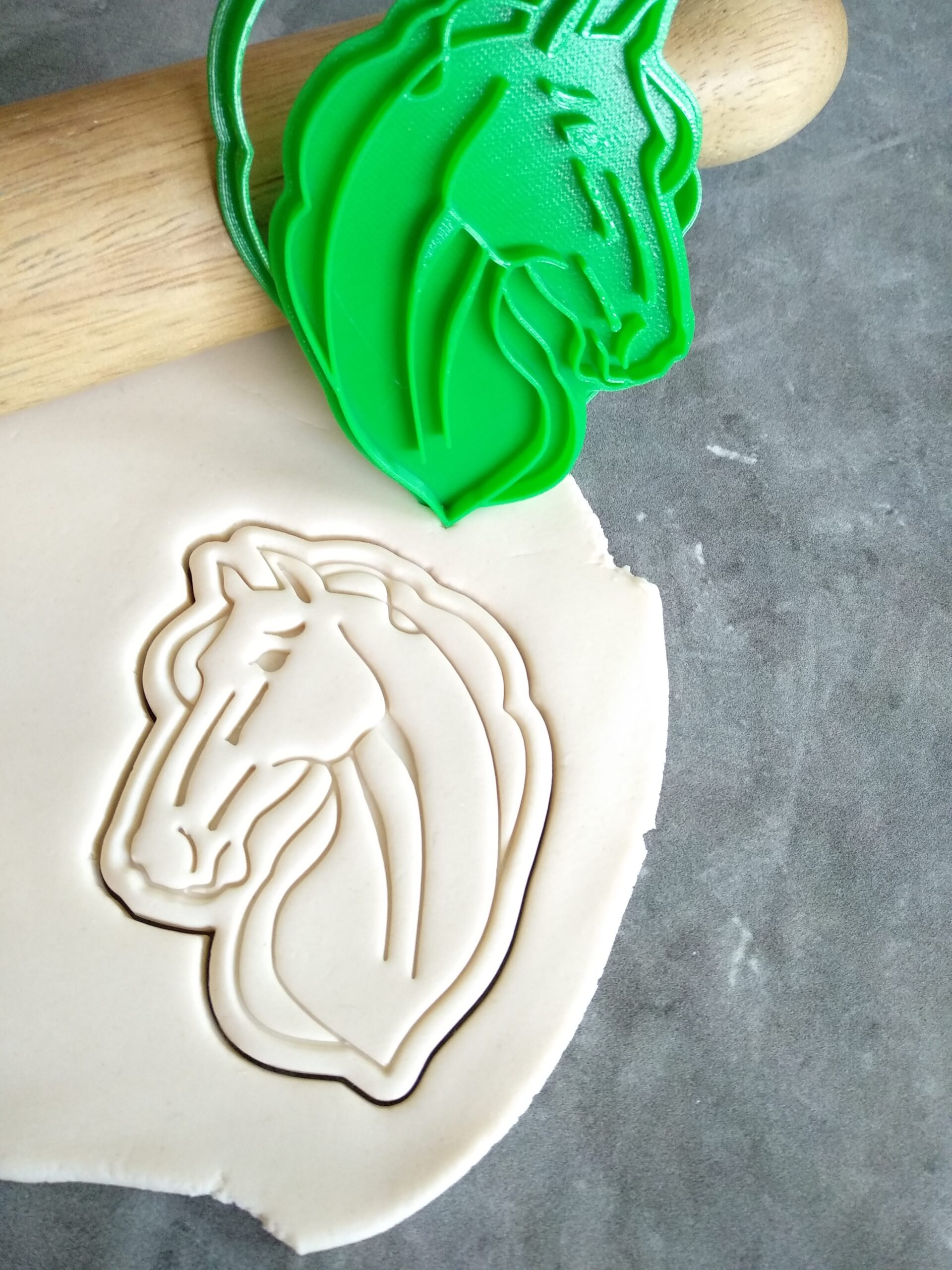 Horse Head Cookie Cutter and Fondant Embosser