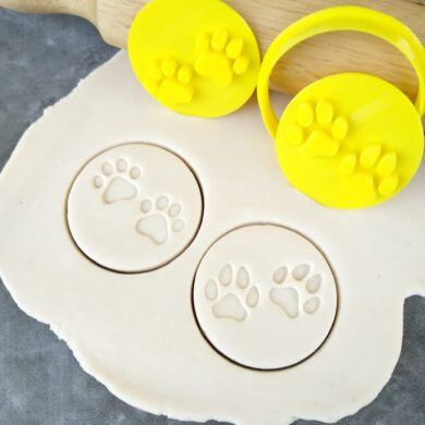 Dog Paws & Cat Paws Cookie Embosser Stamps & Cookie Cutter