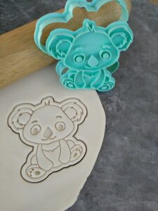 Cute Koala Cookie Fondant Embosser Imprint Stamp and Cutter