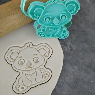 Cute Koala Cookie Fondant Embosser Imprint Stamp and Cutter