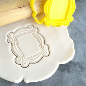 Friends Peephole Photo Frame Cookie Cutter and Fondant Embosser Stamp - Friends Door Frame Door Plaque