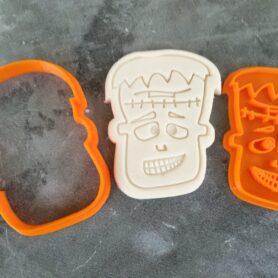 Frankenstein Cookie Fondant Embosser Imprint Stamp and Cutter Halloween