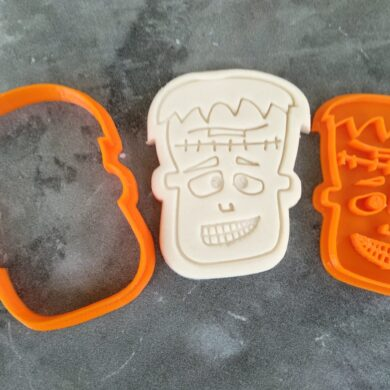 Frankenstein Cookie Fondant Embosser Imprint Stamp and Cutter Halloween