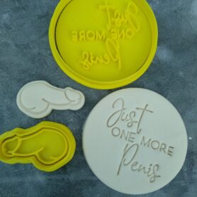 Just one More P Cookie Fondant Embosser Imprint Stamp and Cookie Cutter