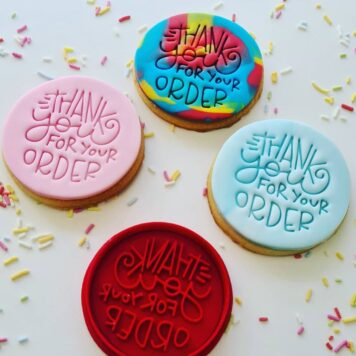 Thankyou for your order Cookie Fondant Embosser Imprint Stamp and Cutter