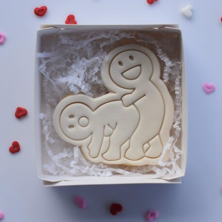 Naughty Cookie Cutter and Fondant Embosser Imprint Stamp - Valentines Day