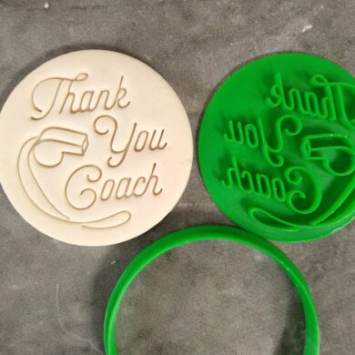 Thank you Coach with Whistle Cookie Fondant Imprint Stamp and Cookie Cutter Teachers Gift Teacher Appreciation