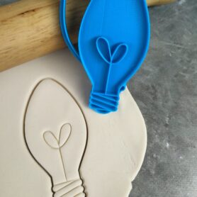 Christmas Light Bulb Cookie Fondant Embosser Imprint Stamp and Cookie Cutter Christmas Lights Xmas