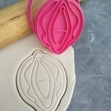 Vagina Cookie Cutter and Fondant Embosser Imprint Stamp