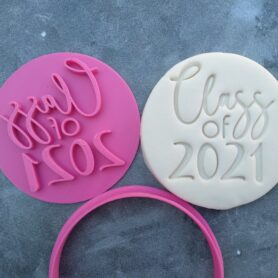 Class of 2021 Teachers Gift Fondant Embosser Stamps and Cutter
