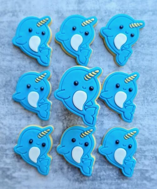 Narwhale Cookie Cutter and Fondant Embosser Impress Stamp