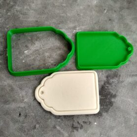 Gift Tag (Style 2) Cookie Fondant Embosser Stamp & Cutter Christmas Birthdays