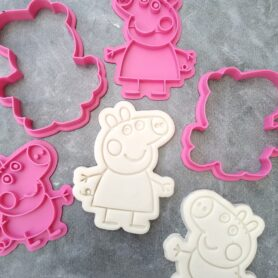 Peppa Pig and George Pig Embosser Imprint Stamp and Cookie Cutter