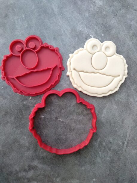 Elmo Fondant Embosser Imprint Stamp and Cookie Cutter