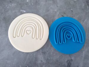 Boho Organic Rainbow Style 2 Embosser Imprint Stamp and Cookie Cutter
