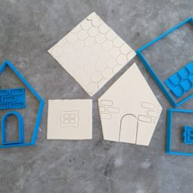 Sugar Cookie / Gingerbread House Cookie Cutter and Embosser 7 Piece Kit