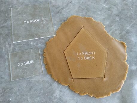 Sugar Cookie / Ginger Bread House Acrylic Template and Embosser 9 Piece Kit