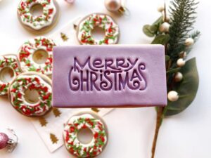 Merry Christmas Cookie Cutters and Fondant Stamps