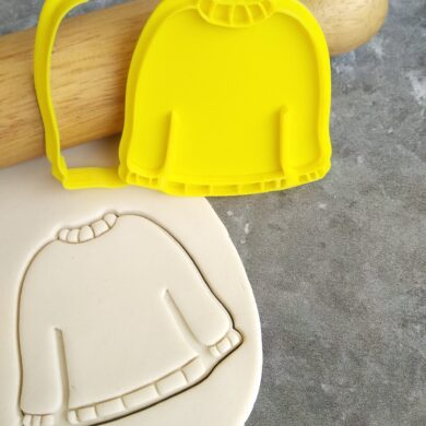 DIY Christmas Sweater Cookie Cutter and Fondant Embosser Stamp Xmas Ugly Sweater Christmas