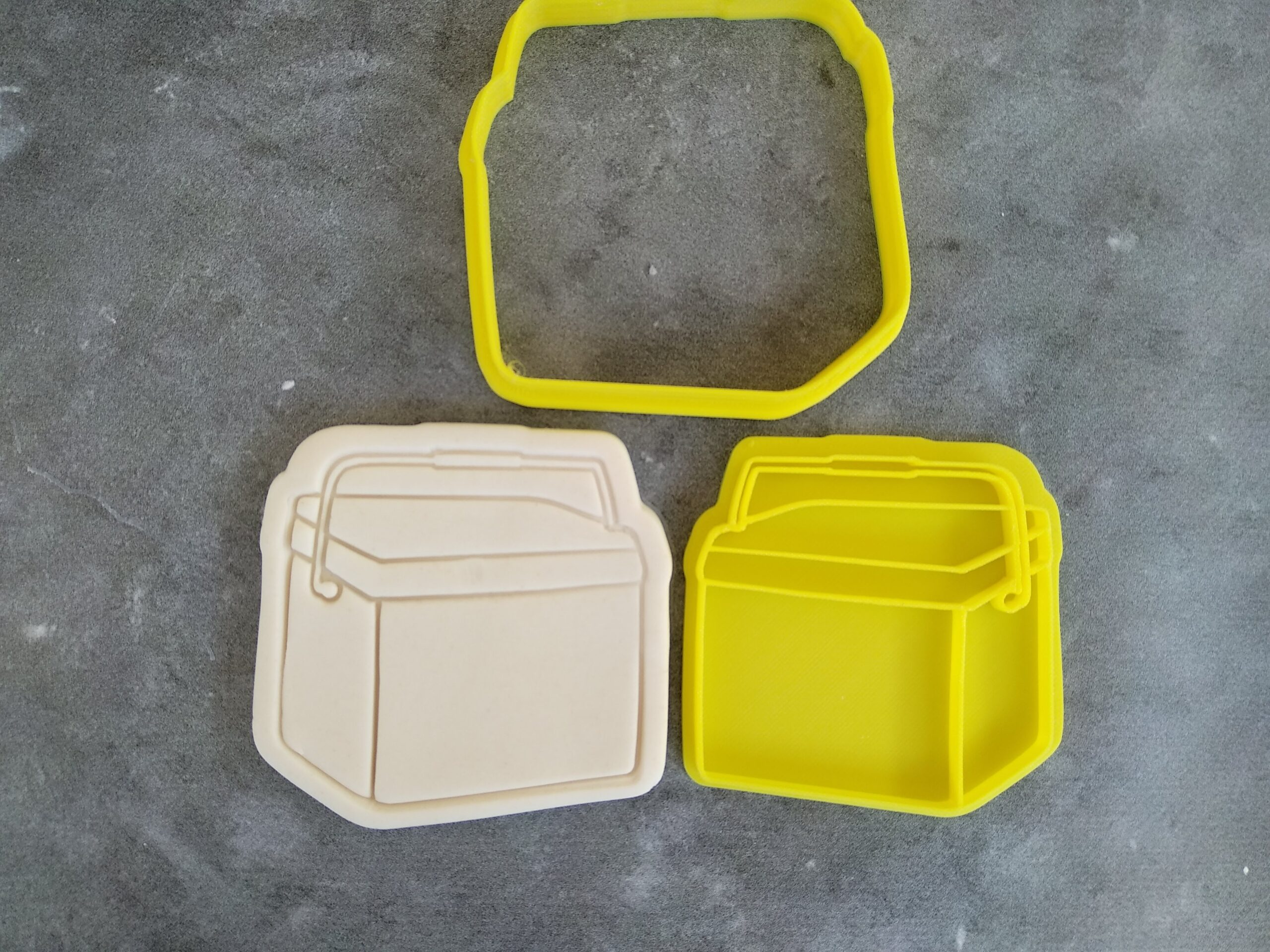 Esky Cookie Cutter and Fondant Stamp Embosser Australia Day Chilly Bin Ice Box Cooler Box