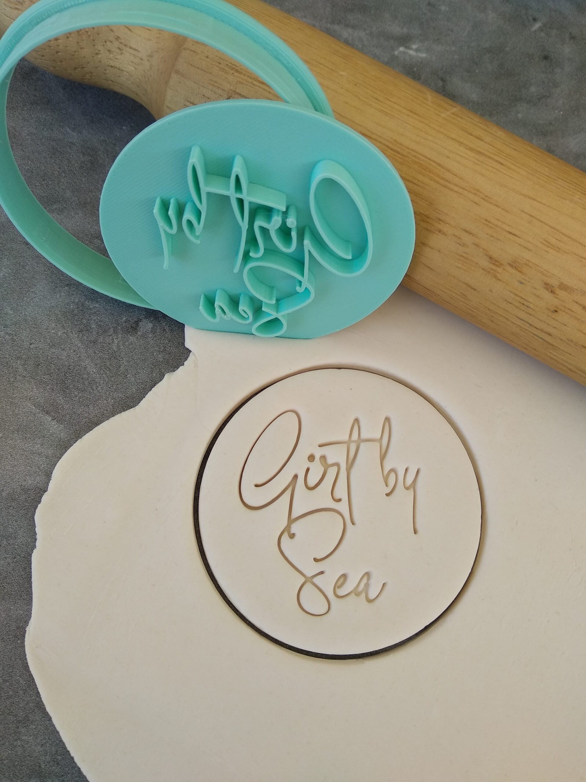 Girt By Sea Cookie Fondant Embosser Stamp and Cutter Australia Day National Anthem