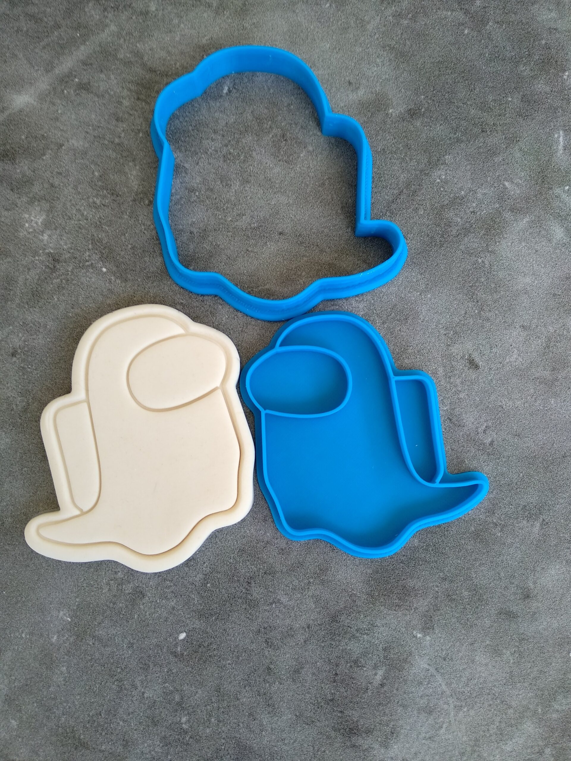Among Us Cookie Cutter and Fondant Stamp Embosser Set Crewmate Ghost Bones Gamer Gift iOS Android