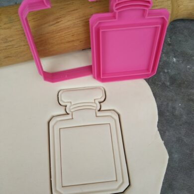 DIY Blank Perfume Bottle Cookie Cutter and Fondant Stamp Embosser