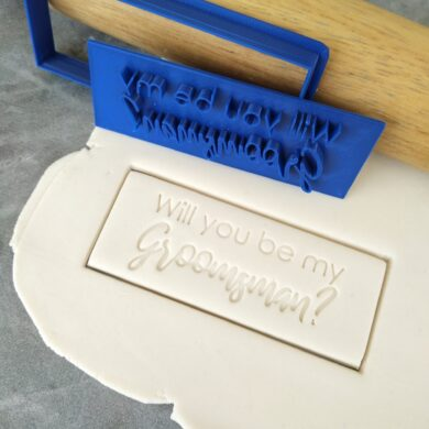 Will you be my Groomsman? Cookie Fondant Embosser Imprint Stamp and Cutter