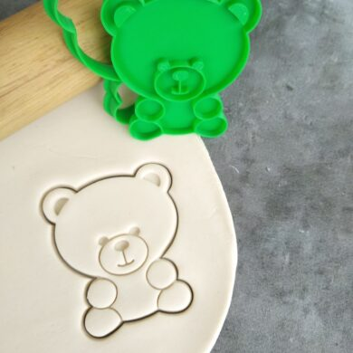 Teddy Bear Cookie Cutter and Fondant Stamp Imprint Embosser