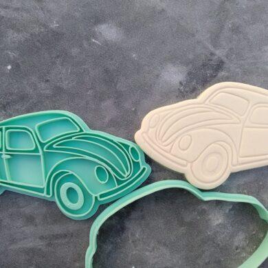 VW Beetle Cookie Cutter and Fondant Stamp Embosser Punch Buggy - Volkswagen Beetle - Volkswagen Type 1